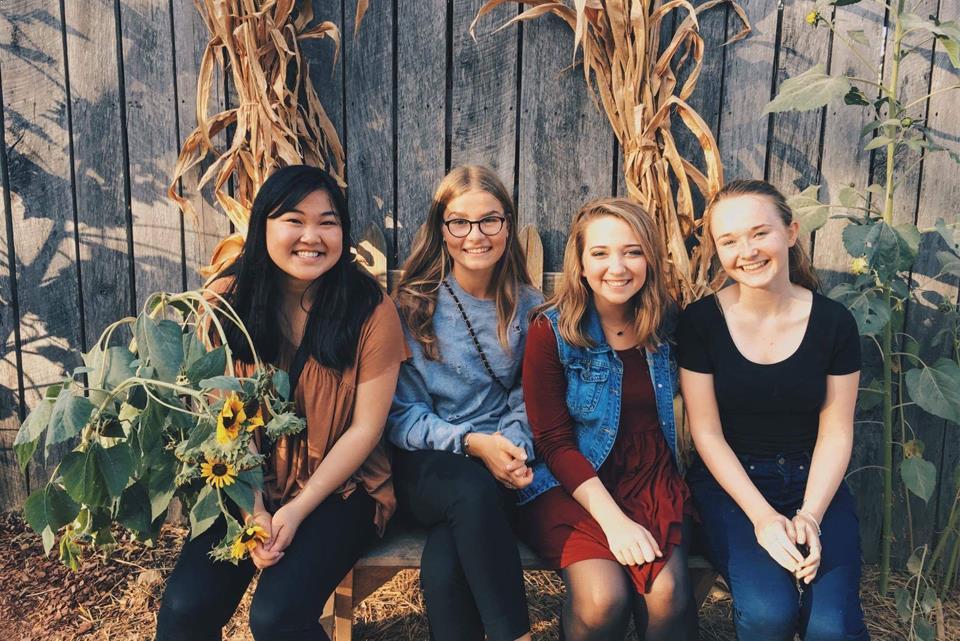 Exchange students in Autumn