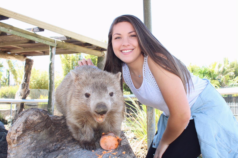 Exchange student in Australia with wonbat