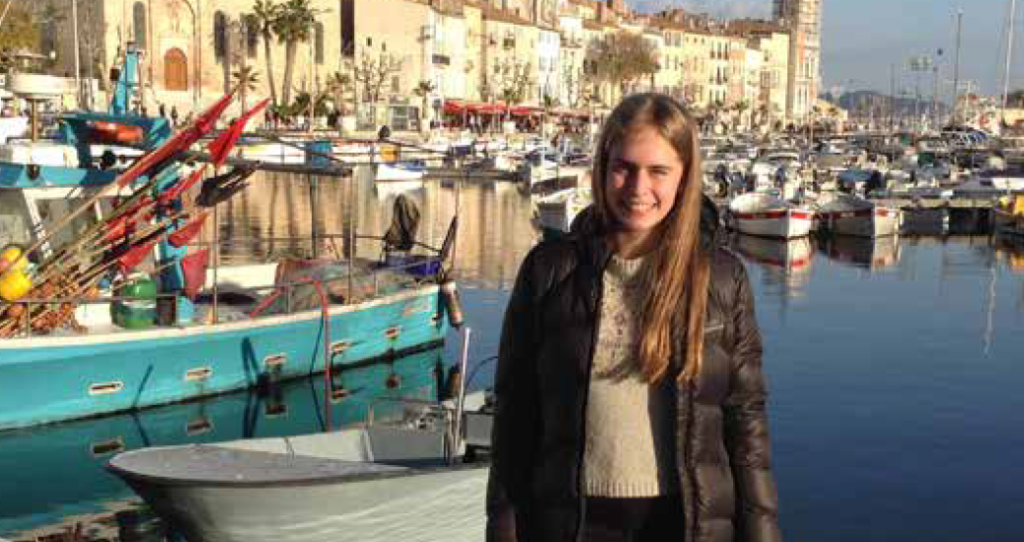 Exchange student in French port