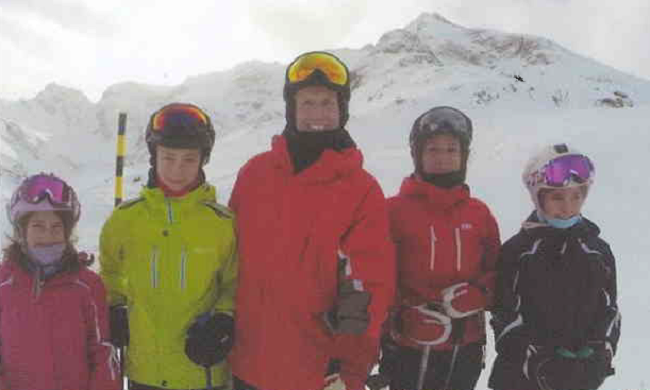 Canada louis with family on ski holiday