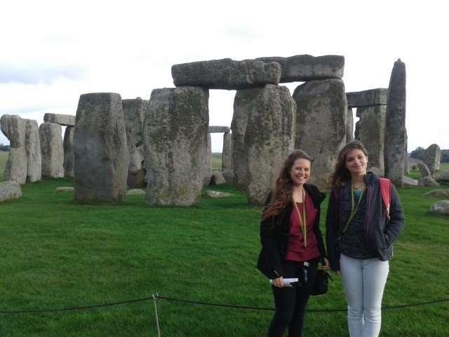 Exchange students at stonehenge