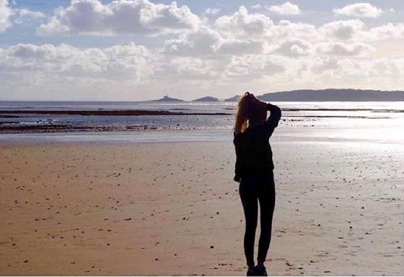 Pernille on beach