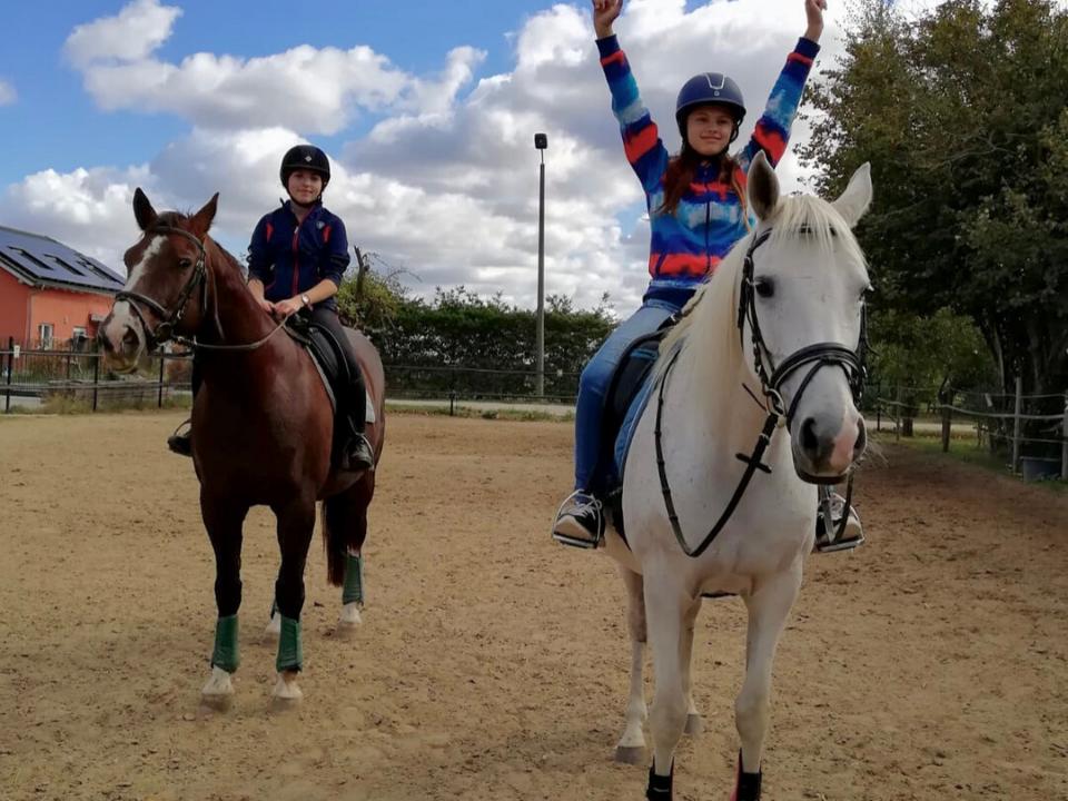 german exchange student horseriding