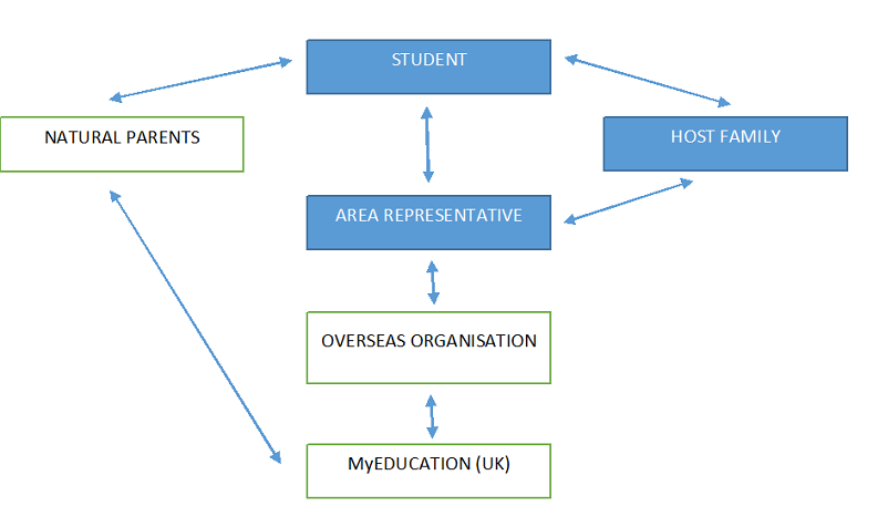Flow chart showing support structure