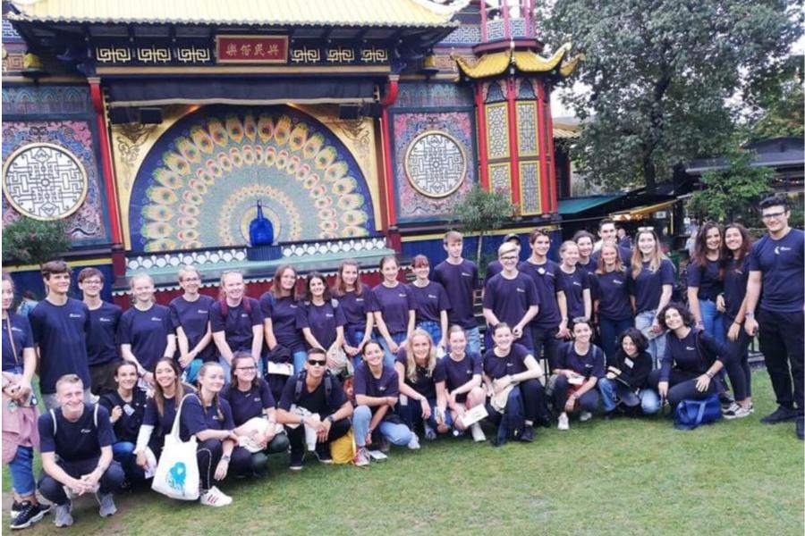 Denmark exchange student orientation camp