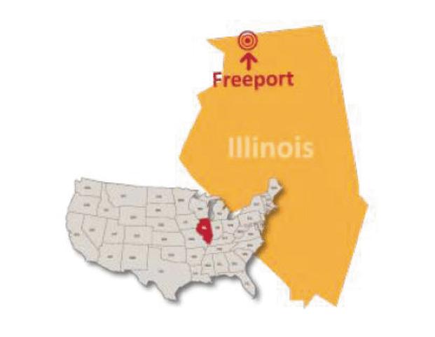 Illinois Freeport private school map
