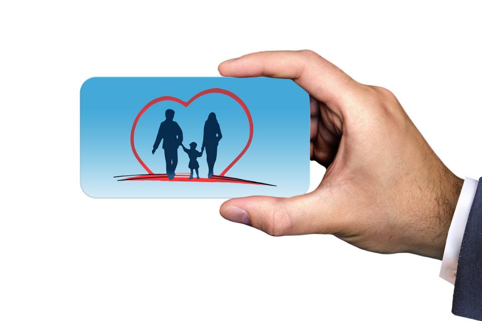 Insurance card image