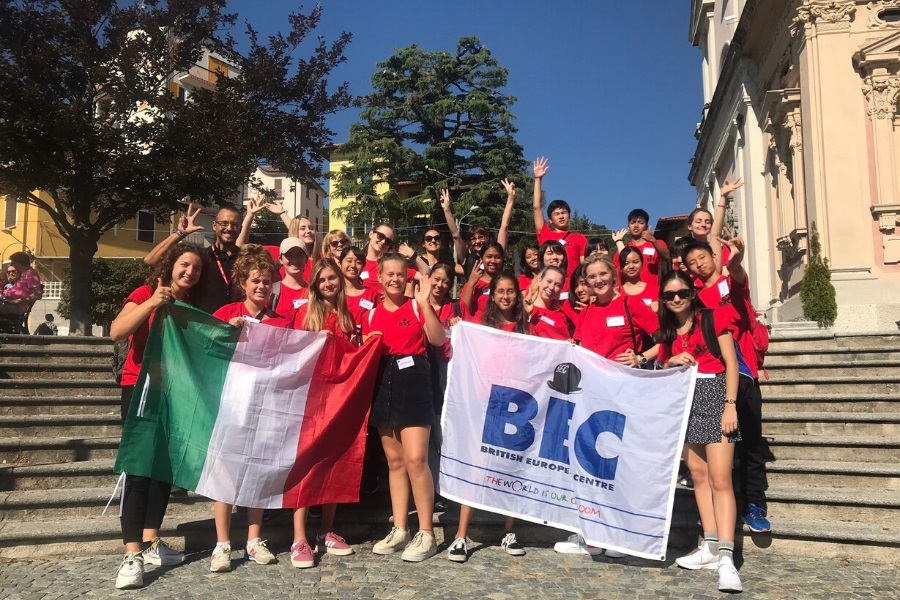 Italy orientation group photo
