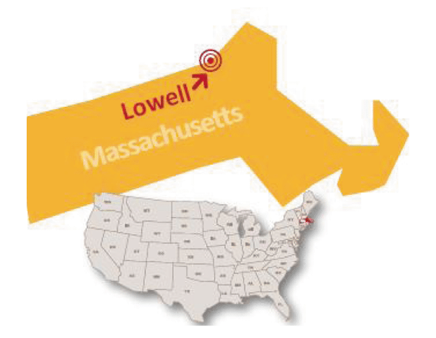 Massachussetts Lowell private school map