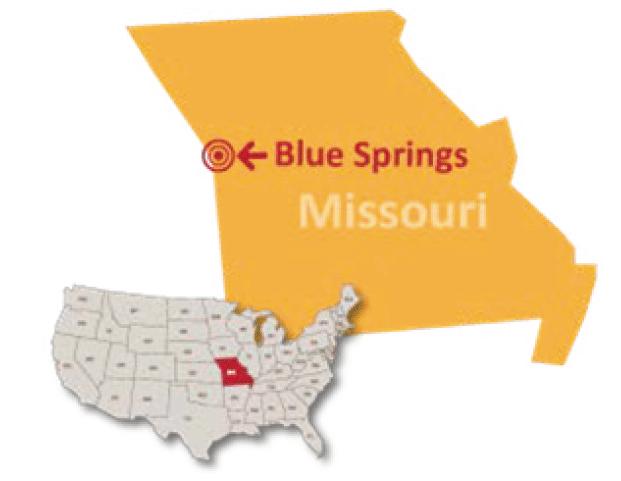 Missouri Blue Springs private school map