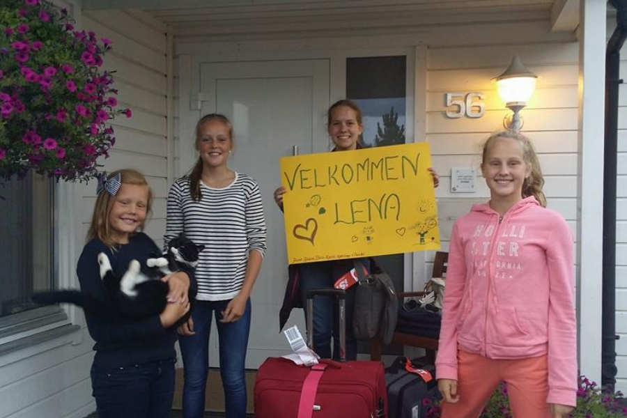 Norway host family arrival