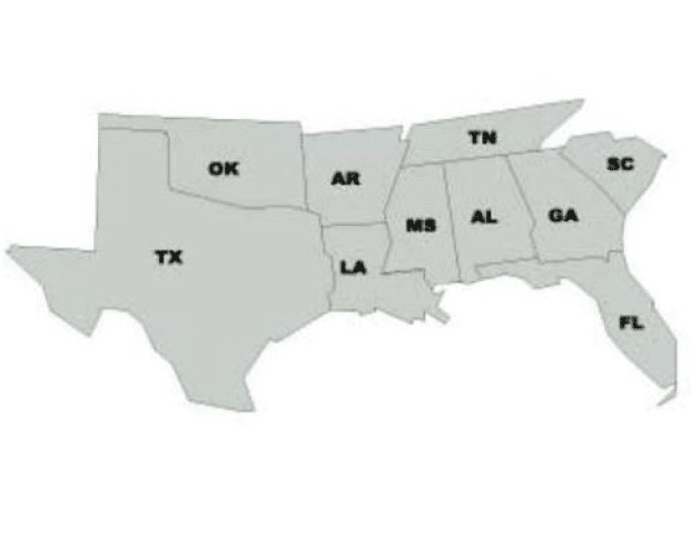 USA south region