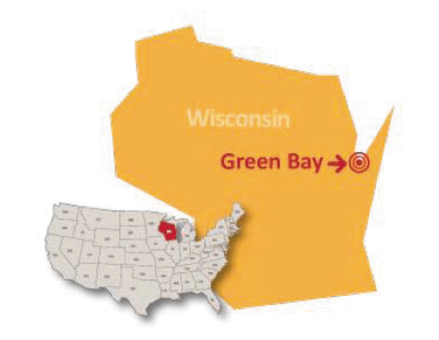 Wisconsin Green Bay private school map