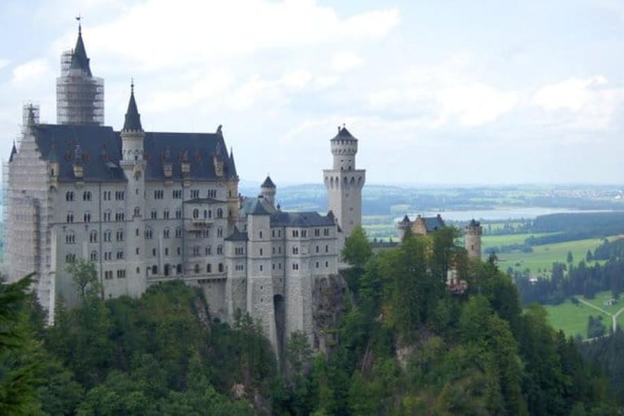 Augsburg castle view