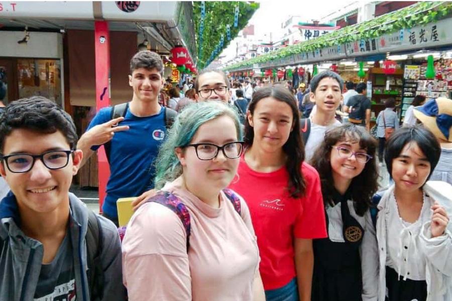 Japan Tokyo language students