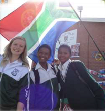 South Africa exchange student at school