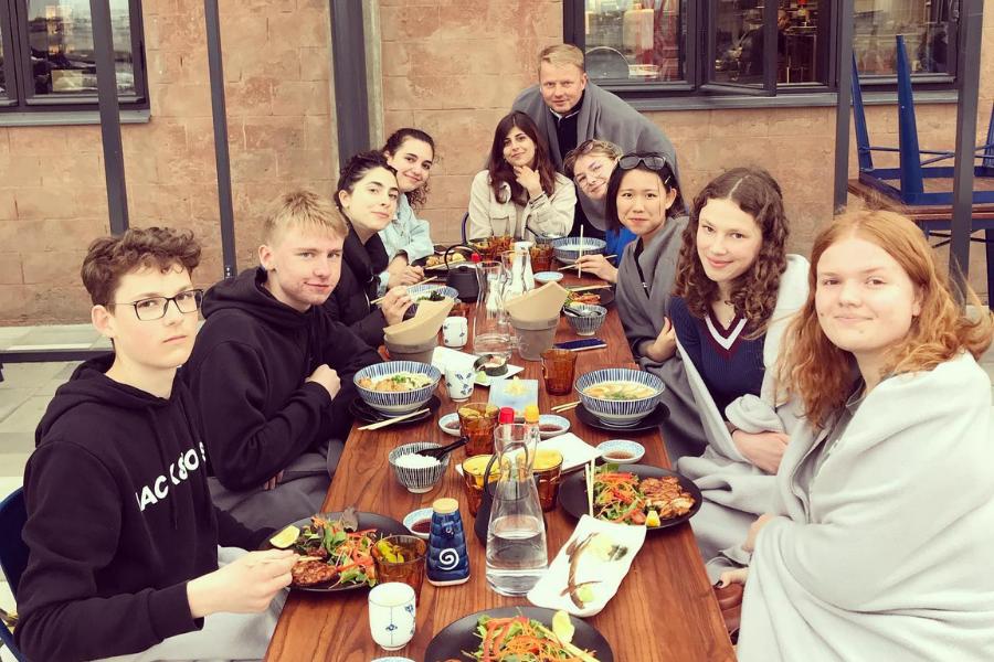 Estonia group meal